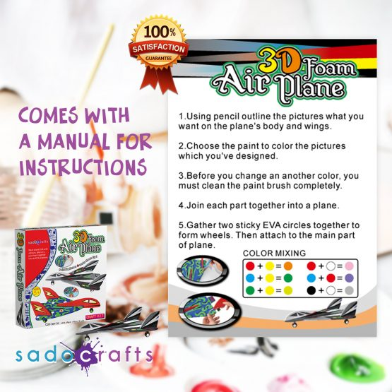SadoCrafts 3D Foam Airplane Kit