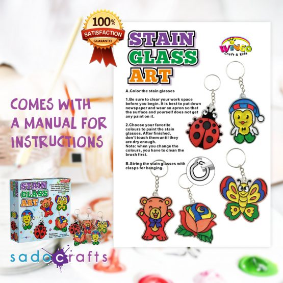 SadoCrafts Stain Art Glass Kit